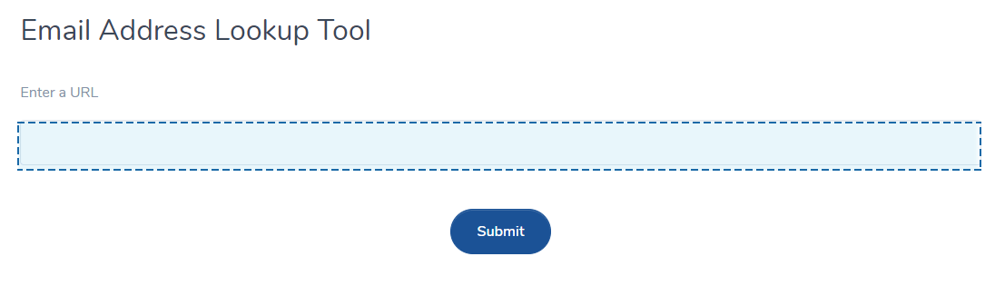 Email address lookup tool