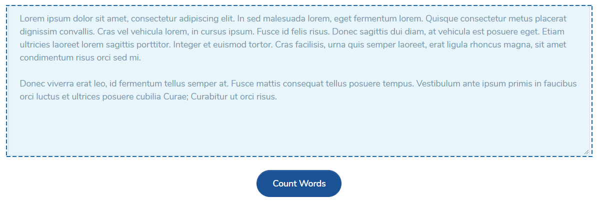 Word Counter tool - enter text to check word or character count